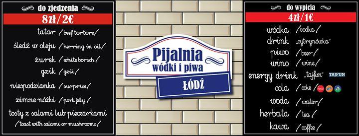 Pijalnia Wódki i Piwa Łódź cover