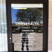 Coley Chiropractic, P.A. & Massage Therapy, mm21010