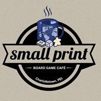 Small Print Board Game Café