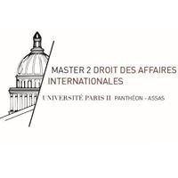 Master 2 Droit des affaires internationales, Paris II Panthéon-Assas