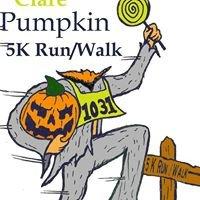 Clare Pumpkin 5K Run/Walk Saturday, October 28, 2017 10am