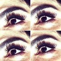 Eyelash extensions-spray tan