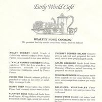 Early World Cafe