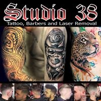Studio 38 ; Custom Tattoo Studio, Traditional Barbers and Laser Removal