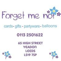 Forget Me Not Balloons, Cards & Gifts