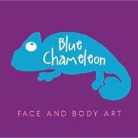 Blue Chameleon Face & Body Art