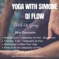 Yoga with Simone and Calligraphy Yoga on the Peninsula
