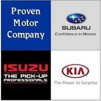 Proven Motor Company franchised dealers for Subaru, Kia and Isuzu