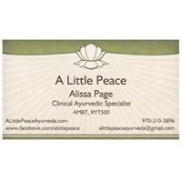 A Little Peace Ayurveda - Natural Health Care & Herbal Medicine