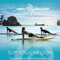 SUP Yoga Nelson with Jane Pascoe.