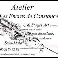 Atelier les Encres de Constance STAGE COURS Dessin Peinture- St-Malo/Rennes