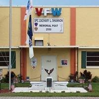 SPC Zachary L Shannon Memorial VFW Post 2550