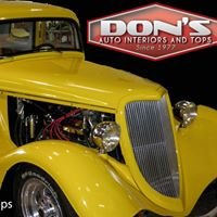 DON'S AUTO INTERIORS & TOPS