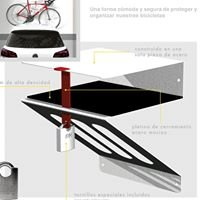 Soporte antirrobo bicicleta