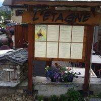 L'étagne aussois carte du restaurant et photos