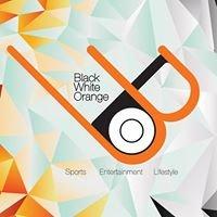 Black White Orange