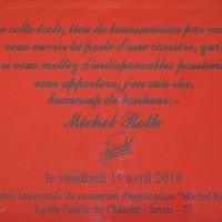 Restaurant d'application Michel Roth, lycée Emilie du Châtelet