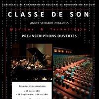 Classe de Son - CRR de Boulogne-Billancourt