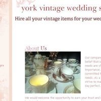 York vintage wedding supplies