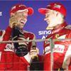 SIMI - Kimi Räikkönen and Sebastian Vettel