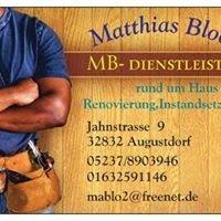 Handwerkerservice MB-Dienstleistungen Augustdorf Matthias Bloch