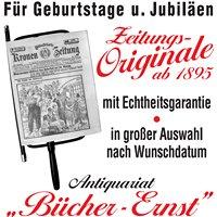 BÜCHER - ERNST , Buch und Zeitungsantiquariat