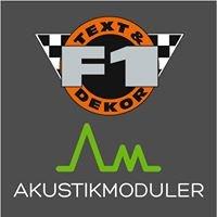 F1 Text & Dekor
