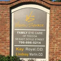 Family Eye Care of Toccoa, Inc- Your Vision Source!