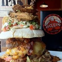 """""""The Everything but the Kitchen Sink-Hole Burger"""""""