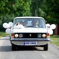 Samochód do ślubu - śliczny, biały Fiat 125p