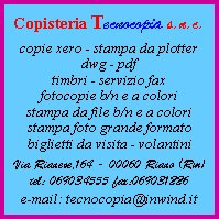 Copisteria Tecnocopia Snc