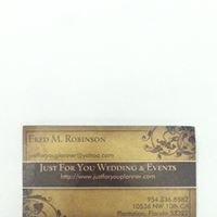 Just For You Wedding & Event Planner