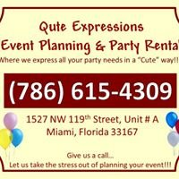 Qute Expressions Event Planning & Party Rental