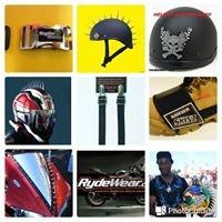 Rydewear motorcycle helmet mohawks gear shifter scuff shoe boot protectors