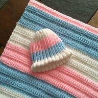 Reborn/Newborn crochet baby blankets and hats