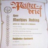 Dachdeckermeister Matthias Anding