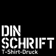 Dinschrift T-Shirt Druck