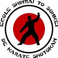 École Shinrai to Sonkei de karaté Shotokan