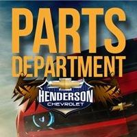 Henderson Chevrolet Parts Department