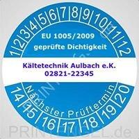 Kältetechnik Aulbach e.K.