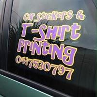 Car Stickers &  T-Shirt Printing.