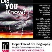 University of Georgia Atmospheric Sciences Program