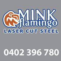 Mink Flamingo Decorative Laser Cut Steel Screens