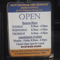Nottingham Tag Service - 3rd Street Office