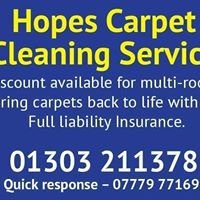 Hope's carpet cleaning services