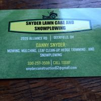 Snyder Lawn Care & Snow Plowing