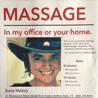 Karin Mallory, Certified Massage Therapist
