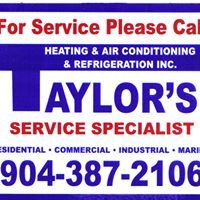 Taylor's Heating, Air Conditioning and Refrigeration Inc
