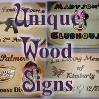 Unique Wood Signs