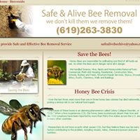 """""""Safe & Alive Bee Removal """""""
